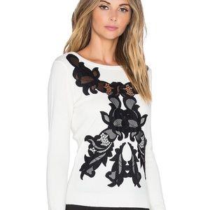 Diane Von Furstenburg Shana Merino Wool Lace Top
